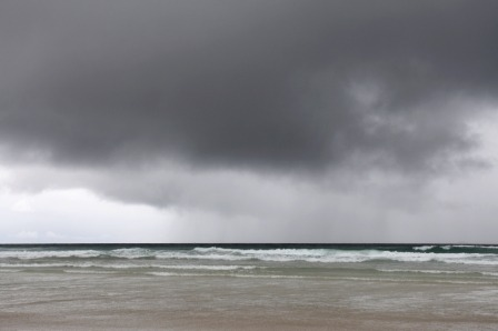 Rain at the beach