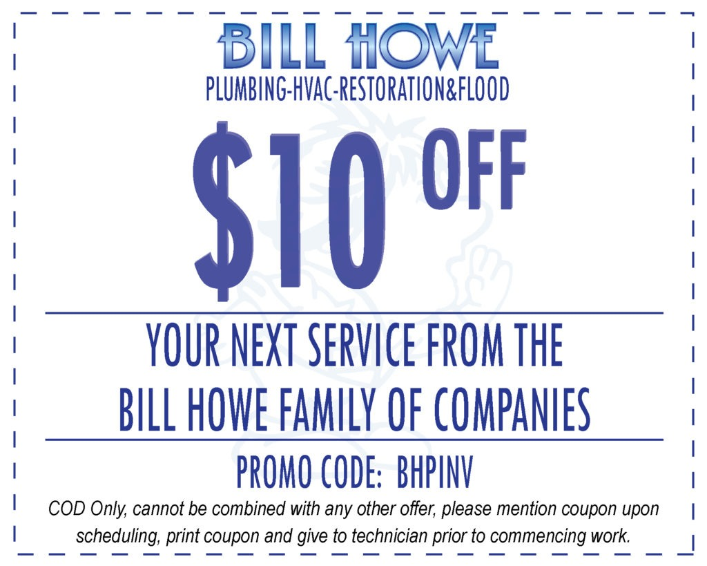 Bill Howe repeat customer plumbing coupon