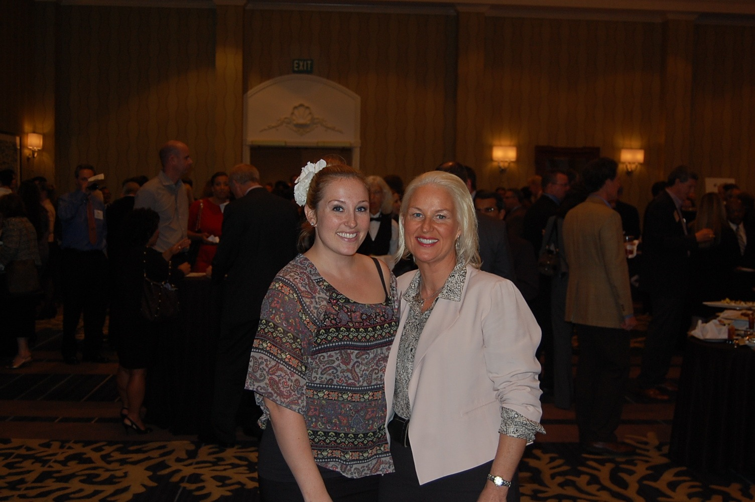 Tina Howe and Haley Howe at the San Diego CFO of the Year Award Ceremony