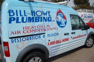 San Diego Plumbing service company's fuel-efficient truck