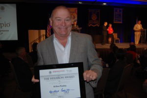 Bill Howe accepts San Diego Rotary Club 33's Heilbron Award