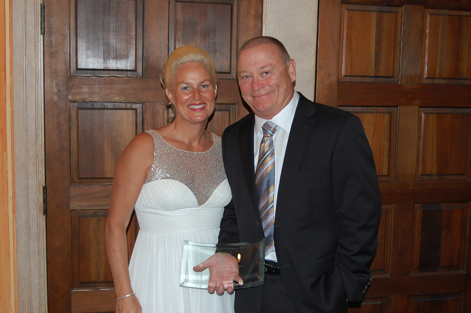 Bill and Tina Howe at the San Diego North Chamber Business Leader of the Year Award