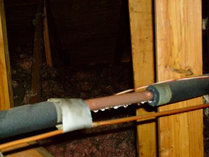 Air conditioning tips for Leaky pipe carries more water