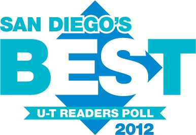 "San Diego Union Tribune 2012 ""San Diego's Best"" reader's poll logo"