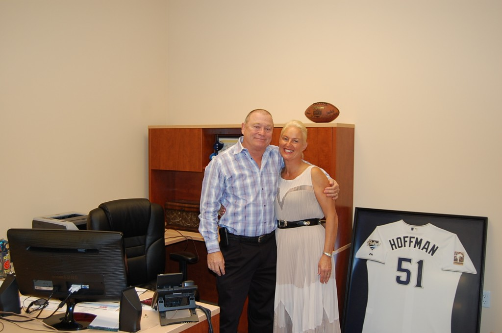 Bill and Tina Howe in Bill Howe's new office