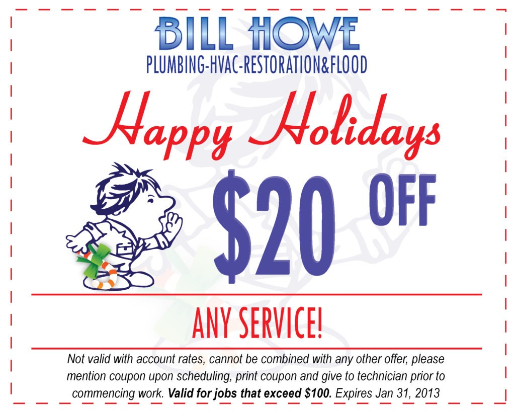 Bill Howe Holiday Coupon off Any Service