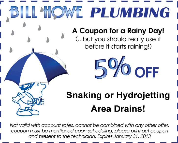 Drain Cleaning Coupon For The Rainy Season