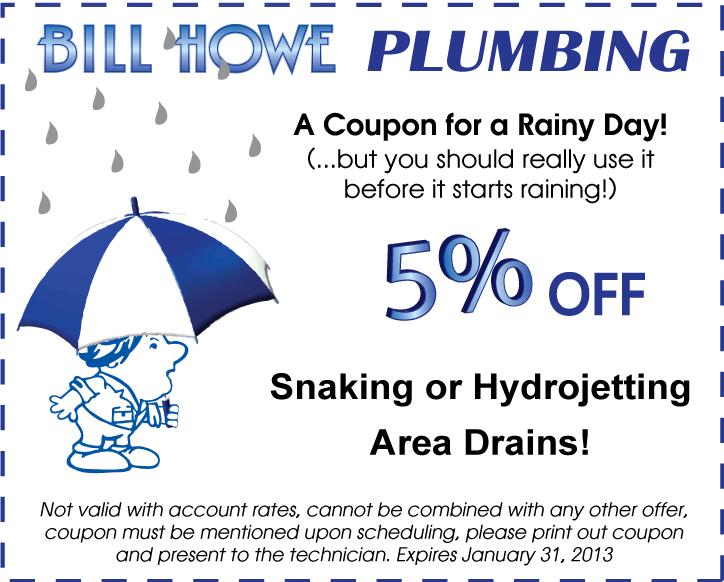 Plumbing drain cleaning coupon