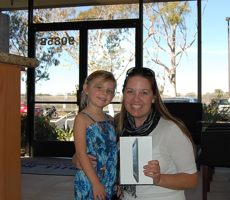 Bill Howe Plumbing Gives ipad to lucky winner at AHA Kick-off Party