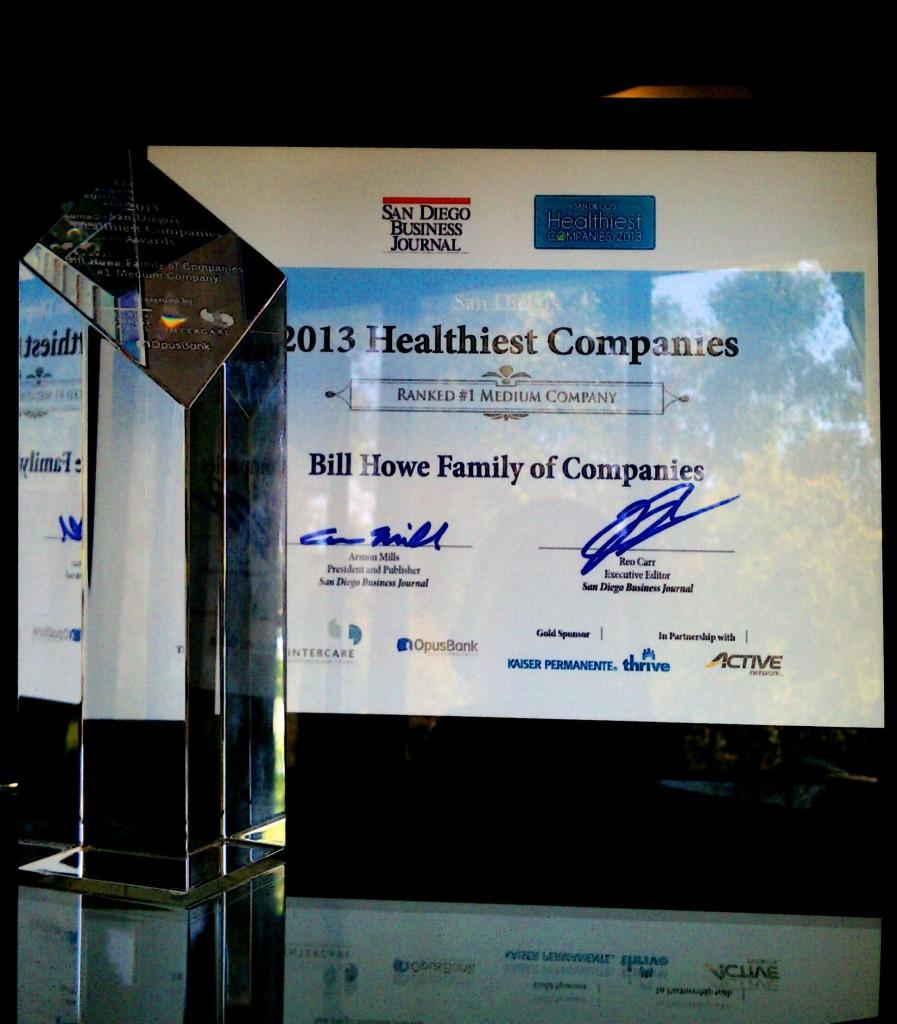 San Diego's Healthiest Company Award