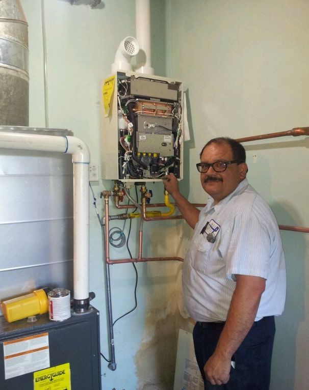 san diego plumber, jason bolas, installing high efficiency tankless water heater