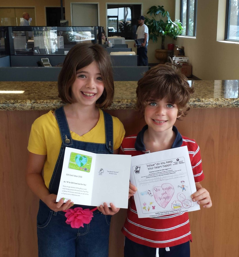 san diego plumber's facebook favorite healthy hearts drawing contest winner