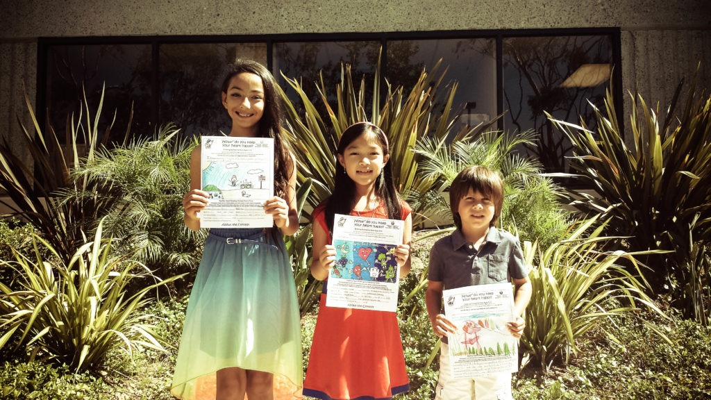 contest winners in san diego plumbers heart healthy drawing contest