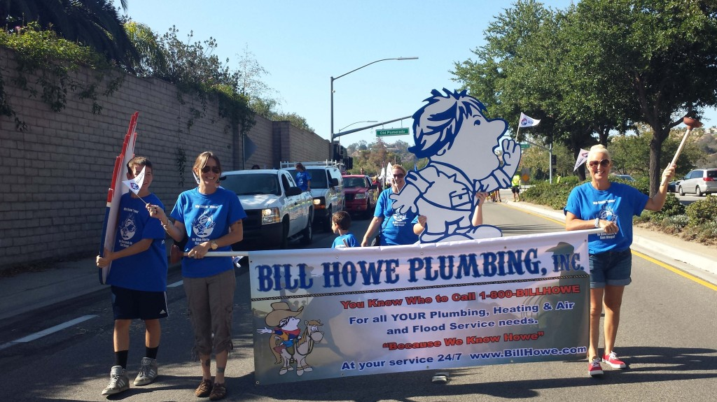 san diego plumbing company, bill howe,  supports local poway parade