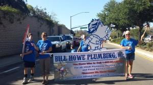 san diego plumber walks in neighborhood parade