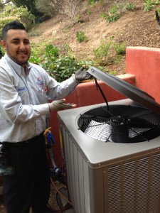 san diego heating tech, javier shows kool kap