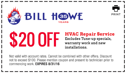 Bill Howe_HVAC Repair_Coupon 8_31_16