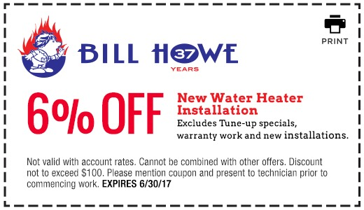 Bill Howe_Water Heater Installation_Coupon 6_30_17