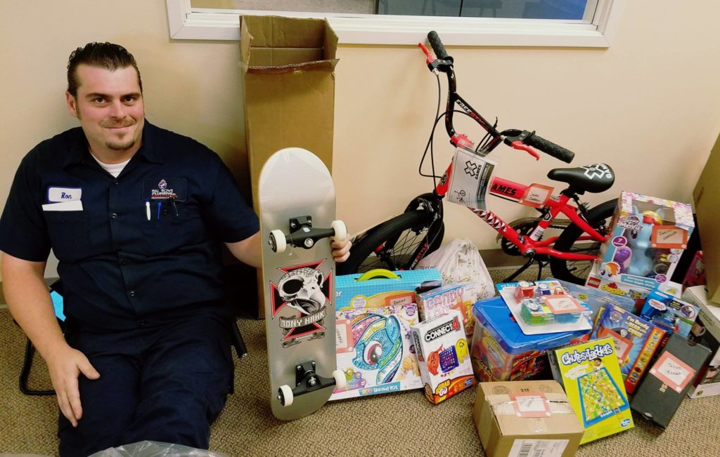 Plumbing Company Employee Goes Above & Beyond Purchases Gifts, Christmas Giving